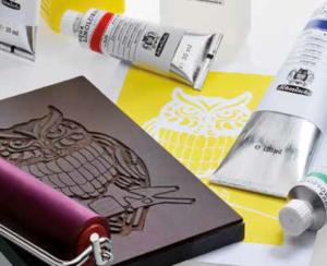 Schmincke aqua-Linoprint